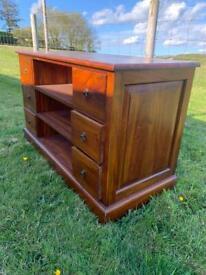 Dark wood mahogany cabinet