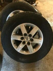 Mitsubishi l200 / Shogun wheels and tyres