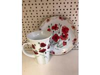 Poppy plate and cup