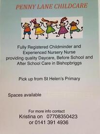Childminder in Bishopbriggs area