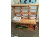 Kids three piece storage unit