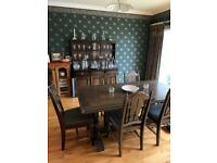Vintage/Antique dining table and 6 chairs Solid Wood