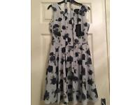 Black rose print new dress