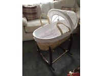 Moses Basket Mothercare barely used