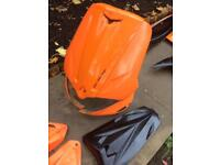 Gilera runner panel set evo orange