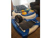 Boys car baby walker / rocker.