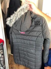 Super dry coat grey size xl mint condition ladies