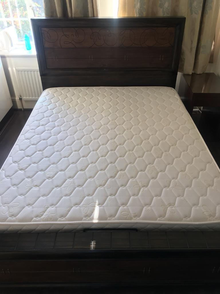Beautiful King Size Quality Ottoman Bed | Solid Wood with Mattress Incl. Delivery Avail