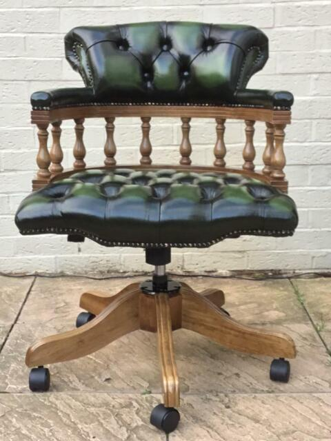 Phenomenal Chesterfield Captains Chair In Antique Green Leather As New Lk Delivery Available In Hodge Hill West Midlands Gumtree Pabps2019 Chair Design Images Pabps2019Com
