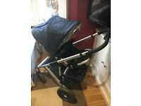 Uppababy Vista Pushchair & Carrycot - Taylor Blue