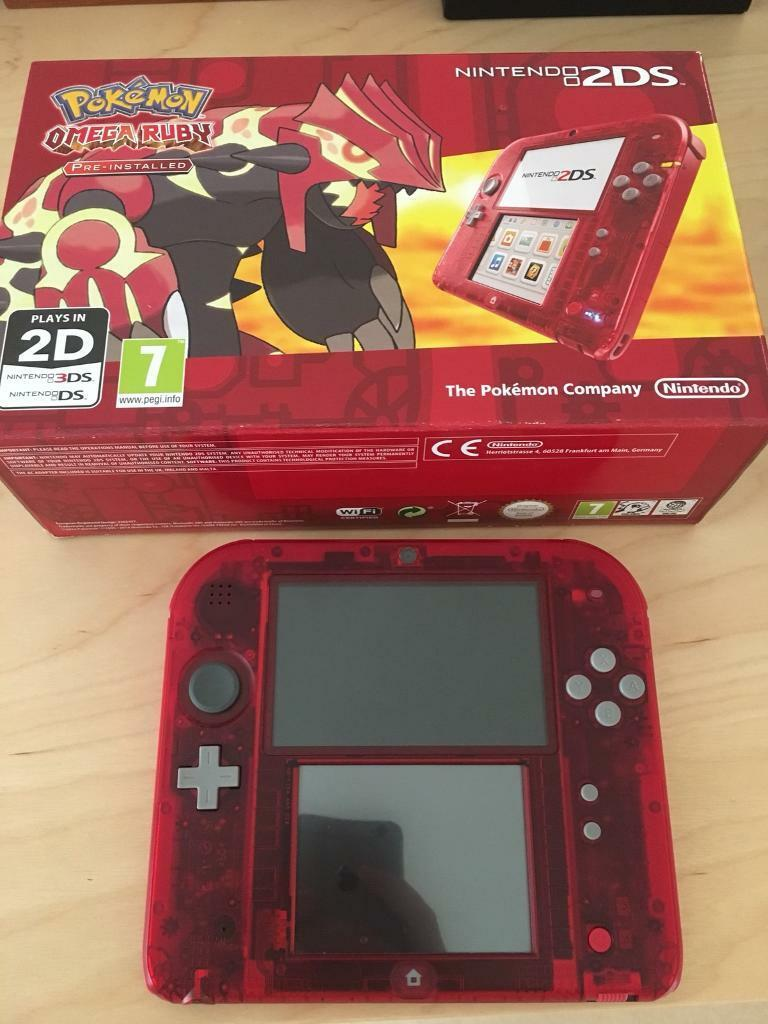 nintendo 2ds red transparent in worthing west sussex gumtree