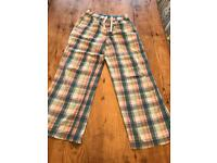 Jack Wills Ladies Checked Lounge Pants - Size Small