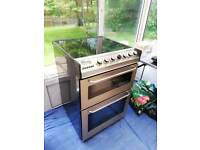 Zanussi electric twin oven cooker with ceramic hob very clean