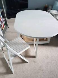 Folding dining table & 4 x chairs