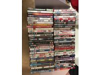 62 DVDs in good condition with some brand new