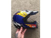 Kids motorbike helmet and gloves
