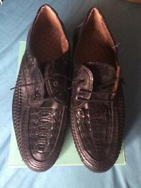 New handmade Italian leather shoes size 9