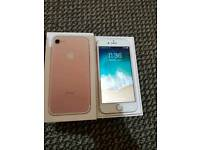 IPHONE 7 ROSE GOLD 128 GB UNLOCKED EXCELLENT CONDITION WITH BOX AND COMPLETE ACCESSORIES