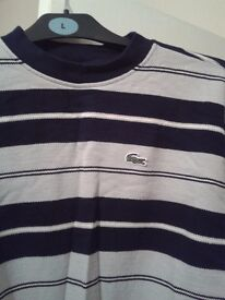 Blue stripy Lacoste jumper new