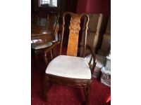 Wooden 6/8 dining table (extendable) & chairs ANY REASONABLE OFFERS
