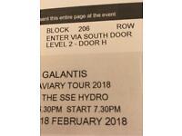 Galantis ticket SSE hydro 2018