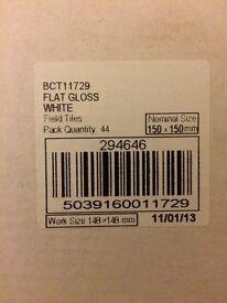 Gloss White 150x150 Glazed Ceramic Tiles 44 (1m)