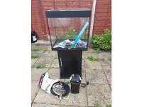 Juwel lido 120 litre fish tank and stand with external filter