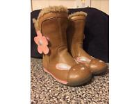 Clarkes girls boots 4F toddler