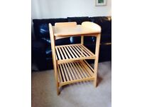 Lovely John Lewis wooden baby changing table unit for nursery