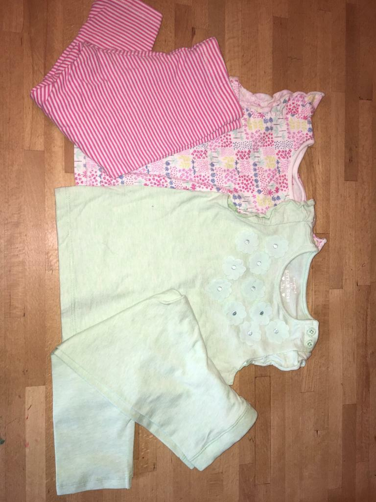 Baby girls leggings and tops mix and match 12-18 Months