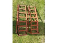 Preowned car ramps in good condition.