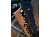 LEEDA XL ROD HOLDALL,TUBES AND MATCHING NET BAG (BLUE)