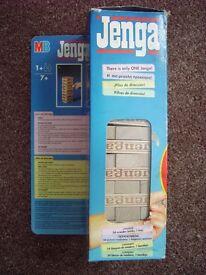 VINTAGE MB GAMES ORIGINAL JENGA WOODEN BLOCK GAME 1999