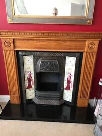 Fireplace and solid pine surround