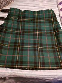 Gents heavyweight kilt Forbes 1842 Ancient Colours 40-42 ins waist length 23.5 ins