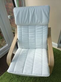 Ikea Poang Armchair Cream and Birch Veneer