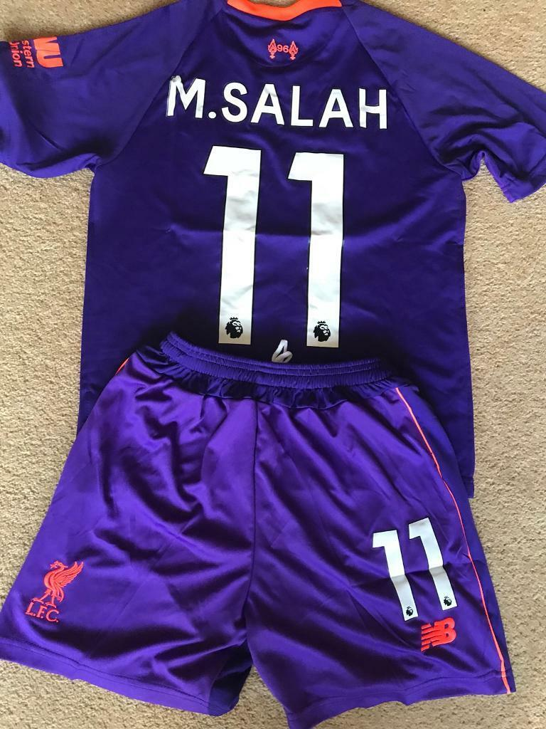reputable site 7757c c6c70 Liverpool F.C. purple Away kit Mo Salah 11 | in Prenton, Merseyside |  Gumtree