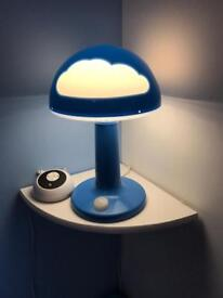 Blue and white cloud lamp