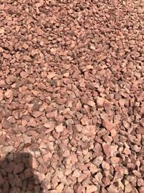 20mm Red garden/driveway chips