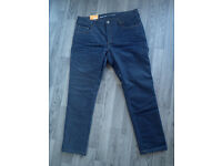 BARGAIN NEW Revit Lombard 2 Jeans 38 / 32 Waist Leg Regular Blue Motorcycle Jeans Trousers