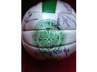 Vintage signed Celtic Football Club, Football from around 1996 with 23 signatures