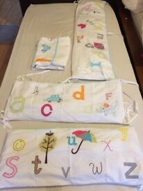 cot bumpers and cot sheets