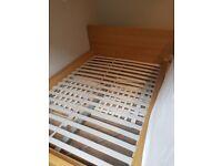 IKEA sprung slat double bed frame
