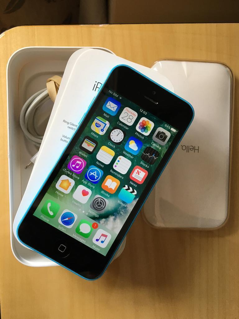 iPhone 5C Unlocked Blue Very Good Condition