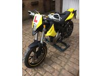 2012 DERBI SENDA SM EVO 50cc (77cc) geared moped, tested until 2018, good condition