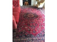Large vintage persian wool rug