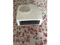 Fan heater for bathroom