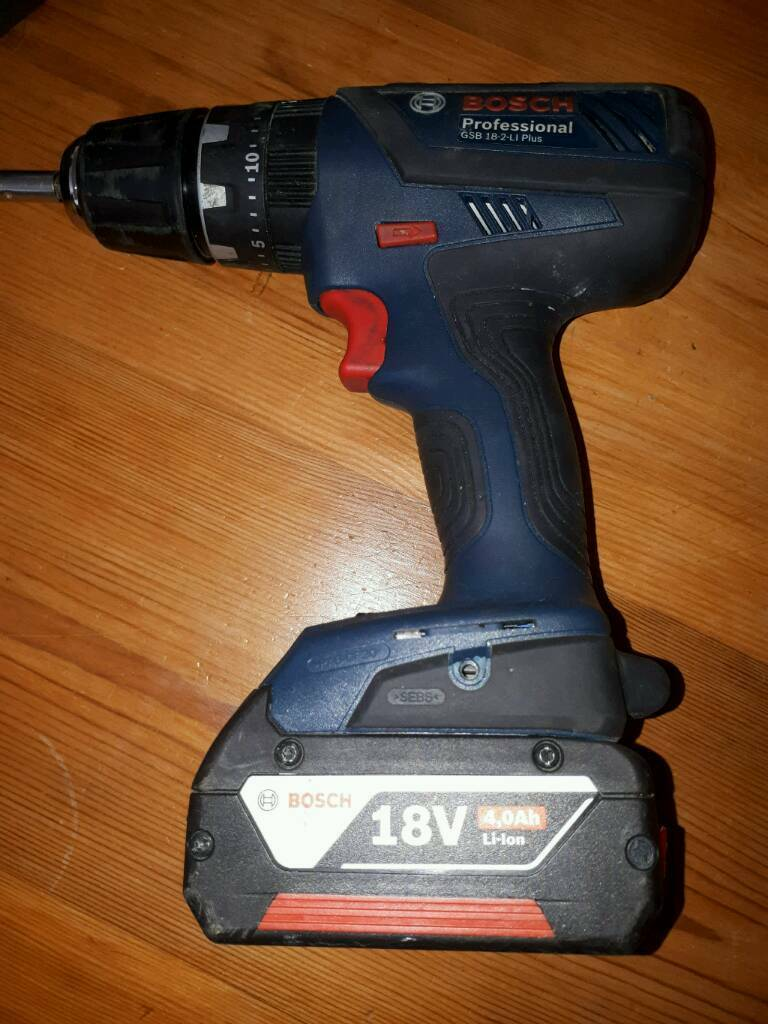 Bosch professional drillin Cramlington, NorthumberlandGumtree - 18v Bosch professional drill. With a 4.0AH battery plus a spare. Complete with case, charger and some bits. 6mths old. Excellent condition. Collection only. £70 OVNO