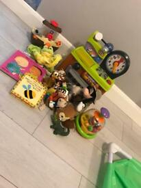 Toy bundle bath toys books teddy's kitchen spinner