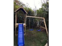Timber to build garden swing and slide set
